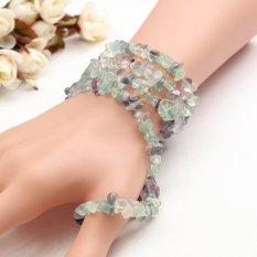 Natural 4*7 Mm Bentuk Bebas Chip Membuat Perhiasan Manik-manik Permata Longgar Strand 36 Cm-Internasional
