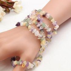 Natural 4*7mm Freeform Chips Lepas Membuat Perhiasan Batu Permata Manik-manik Strand 36 Cm-Internasional