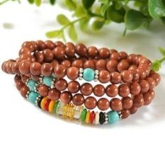 Natural crystal gold sand beads bracelet 108 bracelets beads maleand female models national mail - bead diameter of 6mm - intl