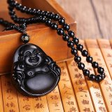 Jual Beli Online Natural Obsidian Buddha Pendant Necklace Fashion 6 Gaya Pria Lucky Jewelry Pola 2 Intl
