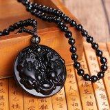 Jual Natural Obsidian Buddha Pendant Necklace Fashion 6 Gaya Pria Lucky Jewelry Pola 5 Intl Murah