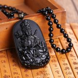 Beli Natural Obsidian Buddha Pendant Necklace Fashion 6 Gaya Pria Lucky Jewelry Pola 6 Intl Oem Asli