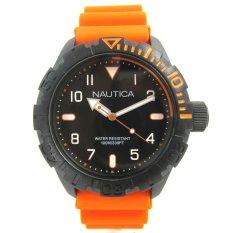 Nautica - Jam Tangan Pria - Hitam-Hitam - Rubber Kuning - NAD10082G 10363e14d8