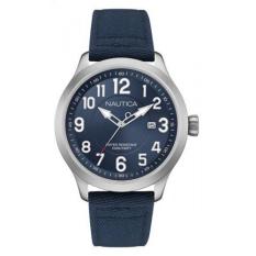 Nautica - Jam Tangan Pria - Silver-Biru - Strap Biru - NAI10501G
