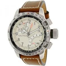 Mens NAD24504G BFC Flyback Chrono Analog Display Analog QUARTZ Brown Watch-Intl