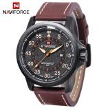Harga Naviforce 9076 Pria Quartz Watch Date 24 Jam Tampilan 3Atm Pita Kulit Jam Tangan Allwin Internasional Yang Murah Dan Bagus