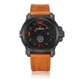 Review Toko Naviforce 9099 Fashion Pria Quartz Jam Tangan Kasual Kulit Strap Sport Jam Jeruk Internasional