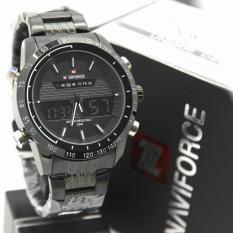 Naviforce Dual Time NF9024NY Jam Tangan Pria Tali Rantai Original
