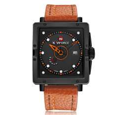 Beli Naviforce Eye Catching Fashion Square Dial Analog Wristwatch With Box Water Resistant Casual Quartz Men Watch With Calendar Intl Cicilan