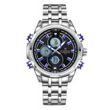 Katalog Naviforce Full Steel Quartz Digital Led Military Wrist Watch Nf9049 A Terbaru