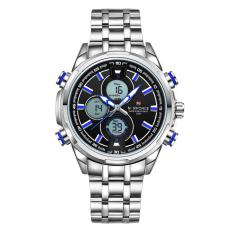 Naviforce Full Steel Quartz Digital Led Military Wrist Watch Nf9049 A Promo Beli 1 Gratis 1