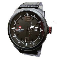 Model Naviforce Jam Tangan Kasual Pria Leather Strap Nf9018Bw Terbaru