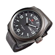 Naviforce Jam Tangan Pria - Leather Strap - NF 9059cbk - Hitam