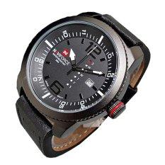 Naviforce Jam Tangan Pria - Leather Strap - NF 9063 NY - Hitam