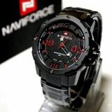 Beli Naviforce Jam Tangan Pria Stainless Steel Nf9078 Full Black Red Dengan Kartu Kredit