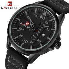 Harga Naviforce Merek Mewah Pria Army Militer Jam Tangan Pria Quartz Tanggal Jam Man Leather Strap Sports Wrist Watch Relogio Masculino Satu Set