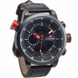 Harga Naviforce Nf09852 Dual Time Jam Tangan Pria Strap Kulit Hitam Merah Naviforce Ori