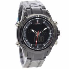 Harga Naviforce Nf09861 Dual Time Jam Tangan Pria Stainless Steel Hitam Termahal