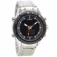 Review Naviforce Nf09861 Dual Time Jam Tangan Pria Stainless Steel Silver Hitam Indonesia