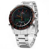 Jual Naviforce Nf9024 Dual Movt Men Quarz Watch Analog Digital Led Orange Intl Original