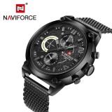 Beli Naviforce Nf9068M Male Quartz Watch 3Atm Kalender Stainless Steel Mesh Band Jam Tangan Intl Naviforce Online