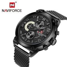 Spesifikasi Naviforce Nf9068M Male Quartz Watch 3Atm Kalender Stainless Steel Mesh Band Jam Tangan Intl Murah Berkualitas