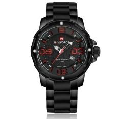Toko Naviforce Nf9078 Stylish Men S Stainless Steel Quartz Wrist Watch Hitam Dan Merah Intl Lengkap