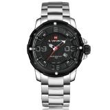 Jual Naviforce Nf9078 Stylish Men S Stainless Steel Quartz Wrist Watch Silver Intl Indonesia Murah