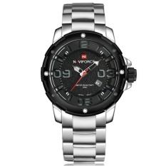 Diskon Naviforce Nf9078 Stylish Men S Stainless Steel Quartz Wrist Watch Silver Intl Naviforce