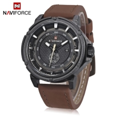 Toko Naviforce Nf9083M Male Quartz Watch Japan Movt Decorative Sub Dial Date Display Wristwatch Brown Black Intl Naviforce Online