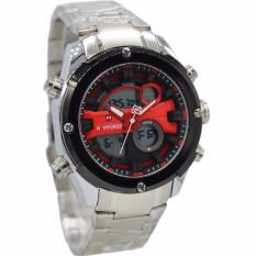 Harga Naviforce Nf9088Ms Dual Time Jam Tangan Pria Stainless Steel Silver Merah Naviforce Indonesia