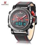 Toko Naviforce Nf9094M Pria Dual Movt Watch Alarm Chronograph Jam Kalender Hitam Intl Tiongkok