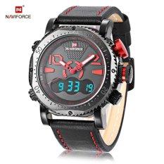 Harga Naviforce Nf9094M Pria Dual Movt Watch Alarm Chronograph Jam Kalender Hitam Intl Naviforce Original