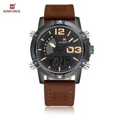 Beli Naviforce Nf9095M Pria Dual Movt Watch Luminous Kalender Led Lampu 3Atm Jam Tangan Intl Naviforce Online