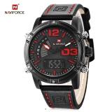 Toko Naviforce Nf9095M Pria Dual Movt Watch Luminous Kalender Led Lampu 3Atm Jam Tangan Intl Tiongkok