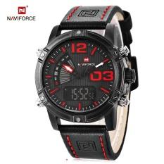 Spesifikasi Naviforce Nf9095M Pria Dual Movt Watch Luminous Kalender Led Lampu 3Atm Jam Tangan Intl Merk Naviforce