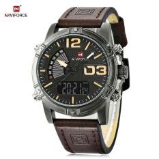 Top 10 Naviforce Nf9095M Pria Dual Movt Watch Luminous Kalender Led Lampu 3Atm Jam Tangan Intl Online