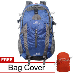 Penawaran Istimewa Navy Club Tas Hiking Backpack Tas Ransel Travel Outdoor Carrier 3550 40 Liter Gratis Bag Cover Biru Tua Terbaru