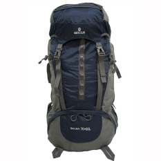 Jual Navy Club Tas Hiking Backpack Ransel Travel Outdoor Carrier 5034 70 10 Liter Gratis Rain Cover Biru Tua Branded Murah