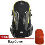 Navy Club Tas Hiking Backpack Ransel Travel Outdoor Carrier 5035 70 Liter Gratis Rain Cover Hitam Navy Club Diskon 30