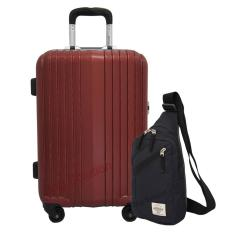 Harga Navy Club Koper Frame Hard Case Abs Kuci Tsa 3182 20 Inch Burgundy Navy Club Tas Selempang Travel 5032 Hitam Satu Set