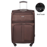 Harga Navy Club Tas Koper Softcase 4 Roda Putar Resleting Anti Tusuk Kunci Tsa 3841 32 Inch Coffee Navy Club Terbaik