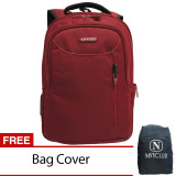 Toko Navy Club Tas Ransel Laptop 8238 Backpack Up To 15 Inch Bonus Bag Cover Merah Navy Club Di Indonesia