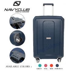 Navy Club New Arrival Tas Koper Frame Hardcase Fiber - PP 4 Roda Putar Kunci TSA - CHGJ Size 20 Inch - Dark Blue