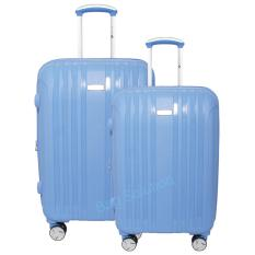 Navy Club Tas Koper Set Koper Hardcase Fiber PP - 4 Roda Putar Resleting Anti Tusuk - Kunci TSA - 3866 Size 20+24 - Inch Biru Muda