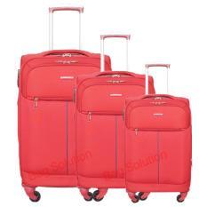 Harga Navy Club Tas Koper Softcase Set 3862 18 22 26 Inch 4 Roda Resleting Anti Tusuk Merah Murah