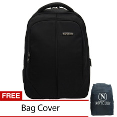 Navy Club Tas Ransel Laptop 8233 Backpack Up To 15 Inch Bonus Bag Cover Hitam Original