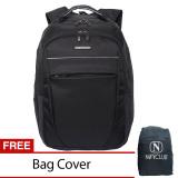 Spesifikasi Navy Club Tas Pria Tas Wanita Backpack Tas Ransel Laptop 8282 Hitam Gratis Bag Cover Merk Navy Club