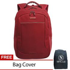 Beli Navy Club Tas Pria Tas Wanita Backpack Tas Ransel Laptop 8283 Merah Gratis Bag Cover Cicilan