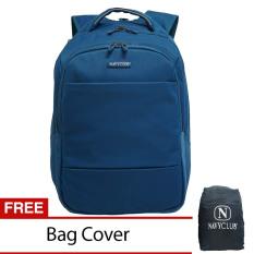 Review Navy Club Tas Pria Tas Wanita Backpack Tas Ransel Laptop Expandable 8279 Biru Gratis Bag Cover Navy Club